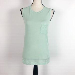 J Crew Garment Dyed Mint Green Tank Top XS NEW